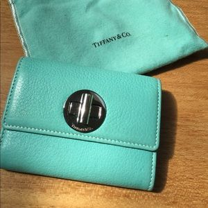 Tiffany and Co leather card wallet